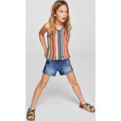 Bluzki dziewczęce: Mango Kids - Top dziecięcy Verti 110-164 cm