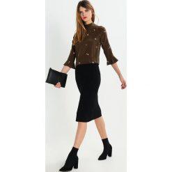 Spódniczki ołówkowe: JUST FEMALE CORN  Spódnica z zakładką black