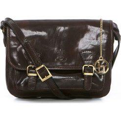 Torebki klasyczne damskie: Skórzana torebka w kolorze ciemnobrązowym – 26 x 19 x 12 cm