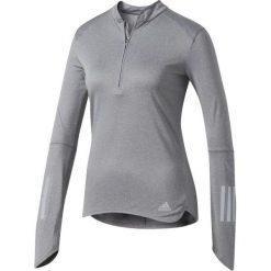 Adidas Koszulka Response 1/2 Zip Long Sleeve Tee Szara r. M (B47695*M). Szare topy sportowe damskie Adidas, m. Za 167,95 zł.