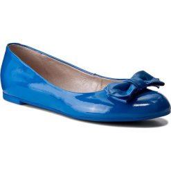 Baleriny GINO ROSSI - Rosa DAG855-N66-JE00-5300-0 55. Niebieskie baleriny damskie lakierowane Gino Rossi, z lakierowanej skóry. W wyprzedaży za 199,00 zł.