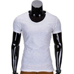 T-shirty męskie: T-SHIRT MĘSKI BEZ NADRUKU S697 – BIAŁY