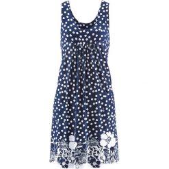 Sukienki: Sukienka ze stretchem bonprix ciemnoniebieski z nadrukiem