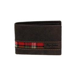 Portfele męskie: Skórzany portfel w kolorze brązowym – (D)11 x (S)7,6 cm
