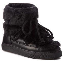 Buty INUIKII - Sneaker 70202-9 Rabbit Black. Czarne buty zimowe damskie Inuikii, ze skóry. Za 1409,00 zł.