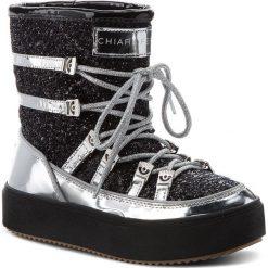 Śniegowce CHIARA FERRAGNI - 18AI-CF2121 Black. Czarne buty zimowe damskie Chiara Ferragni, z materiału. Za 1099,00 zł.