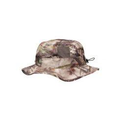 Kapelusz myśliwski BGS500D Camo Actikam Brown. Brązowe kapelusze damskie SOLOGNAC, z bawełny. Za 49,99 zł.