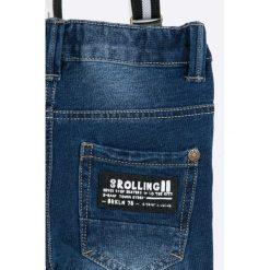 Blukids - Jeansy dziecięce 68-98 cm. Niebieskie jeansy męskie regular Blukids, z bawełny. W wyprzedaży za 59,90 zł.