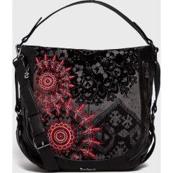 Desigual - Torebka. Czarne torebki klasyczne damskie Desigual. Za 399,90 zł.
