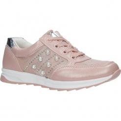 Różowe buty sportowe z ozdobnym suwakiem i perełkami Casu P-237. Czerwone buciki niemowlęce Casu. Za 79,99 zł.