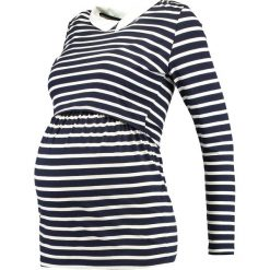Bluzki asymetryczne: Envie de Fraise CLOTHILDE  Bluzka z długim rękawem navy blue/off white