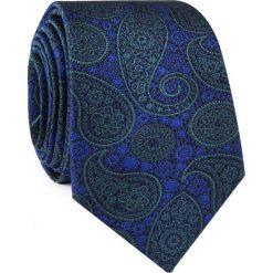 Krawat jedwabny KWWR000312. Niebieskie krawaty męskie Giacomo Conti, z jedwabiu. Za 129,00 zł.