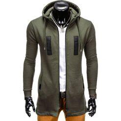 Bluzy męskie: BLUZA MĘSKA ROZPINANA Z KAPTUREM B770 – KHAKI