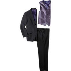Garnitur (5 części) Slim Fit bonprix czarny. Czarne garnitury bonprix. Za 219,99 zł.
