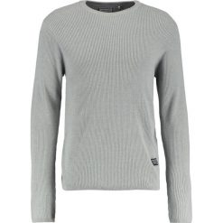 Swetry klasyczne męskie: Shine Original CREW Sweter grey melange