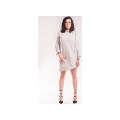 Sukienka z zamkiem SL2158 Size Plus. Szare sukienki asymetryczne marki bonprix, melanż, z dresówki, z kapturem, z długim rękawem, maxi. Za 118,00 zł.