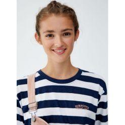 Koszulka w marynarskie paski. Szare t-shirty damskie Pull&Bear, w paski. Za 59,90 zł.