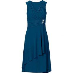 Sukienki: Sukienka z aplikacją bonprix niebieskozielony morski