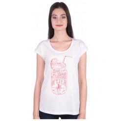 Mustang T-Shirt Damski S Biały. Niebieskie t-shirty damskie marki Mustang, z aplikacjami, z bawełny. W wyprzedaży za 79,00 zł.