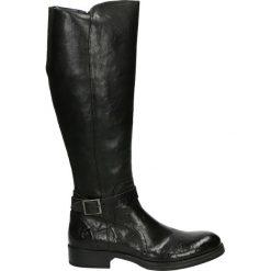 Kozaki - 10265 SAF NER. Czarne buty zimowe damskie Venezia, ze skóry. Za 999,00 zł.