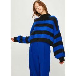 Answear - Sweter. Niebieskie swetry oversize damskie ANSWEAR, uniwersalny, z dzianiny. Za 169,90 zł.
