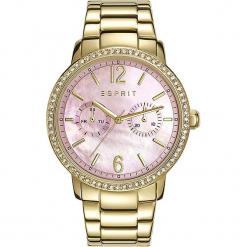 """Zegarek kwarcowy """"Kate"""" w kolorze perłoworóżowo-złotym. Żółte, analogowe zegarki damskie Esprit Watches, ze stali. W wyprzedaży za 363,95 zł."""