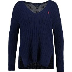 Swetry klasyczne damskie: Polo Ralph Lauren SIDE SLIT Sweter bright navy