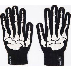 Akcesoria męskie: Rękawiczki z aplikacją - Czarny