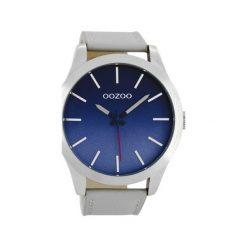 Zegarek OOZOO C8555 grey/blue. Szare, analogowe zegarki męskie Moderntime, metalowe. Za 249,00 zł.
