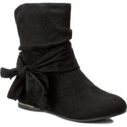 Botki JENNY FAIRY - WS1191-24A Czarny. Czarne buty zimowe damskie marki Jenny Fairy, z materiału, na obcasie. W wyprzedaży za 69,99 zł.