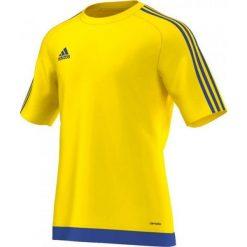 Adidas Koszulka piłkarska męska Estro 15 żółto-niebieska r. L (M62776). Żółte t-shirty męskie marki ATORKA, xs, z elastanu. Za 40,50 zł.