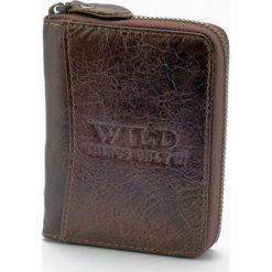 Portfele męskie: Portfel męski Wild things Only Zipper Around Brązowy