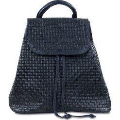 """Plecaki damskie: Skórzany plecak """"Faith"""" w kolorze granatowym – 32 x 33 x 16 cm"""
