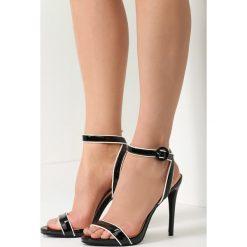 Czarne Sandały Stunned. Brązowe sandały damskie marki vices, z materiału, ze szpiczastym noskiem, na wysokim obcasie, na obcasie. Za 49,99 zł.