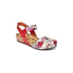 Sandały Art  POMPEI. Czerwone sandały damskie Art, z kauczuku. Za 335,20 zł.