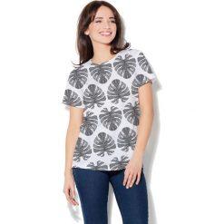 Colour Pleasure Koszulka damska CP-030 273 biało-czarna r. XS/S. Fioletowe bluzki damskie marki Colour pleasure, uniwersalny. Za 70,35 zł.
