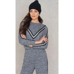 Bluzy rozpinane damskie: Sisters Point Bluza z paskami Veva - Grey