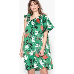 Długie sukienki: Kwiecista sukienka bez rękawów, długa i rozkloszowana