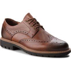 Półbuty CLARKS - Batcombe Wing 261271917 Dark Tan Leather. Brązowe półbuty skórzane męskie marki Clarks. W wyprzedaży za 229,00 zł.