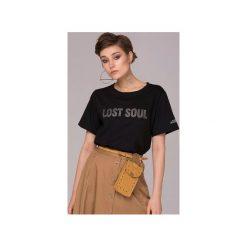 Lost Soul Crystal T-shirt Bluzka. Czarne t-shirty damskie marki Animals Wave, s, z haftami, z bawełny. Za 79,00 zł.