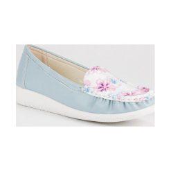 Niebieskie mokasyny w kwiaty TULLO niebieskie - 2