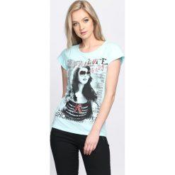 Bluzki damskie: Miętowy T-shirt Pretty Baby