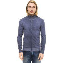 Golfy męskie: Sweter w kolorze niebieskim
