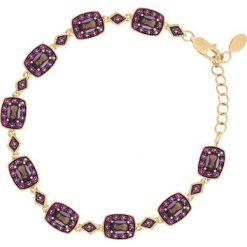 Biżuteria i zegarki damskie: Unikalna Złota Bransoletka - złoto żółte 585, Kwarc dymny...