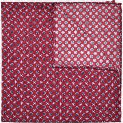Poszetka Bordowa Wzór Geometryczny. Czerwone poszetki męskie LANCERTO, w geometryczne wzory, klasyczne. Za 99,90 zł.