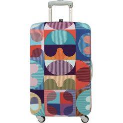Pokrowiec na walizkę LOQI Hvass&Hannibal Grid. Szare walizki marki LOQI, z elastanu. Za 114,00 zł.