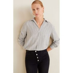 Mango - Koszula Copito. Szare koszule damskie Mango, l, w paski, z tkaniny, klasyczne, z klasycznym kołnierzykiem, z długim rękawem. Za 139,90 zł.