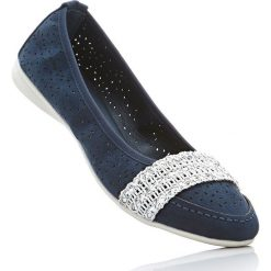 Baleriny bonprix ciemnoniebieski. Niebieskie baleriny damskie lakierowane bonprix. Za 32,99 zł.