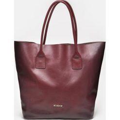 Bordowa torebka damska. Czerwone torebki klasyczne damskie Kazar, ze skóry, duże. Za 849,00 zł.