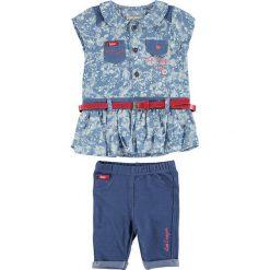 Spodnie niemowlęce: 2-częściowy zestaw w kolorze niebiesko-błękitnym